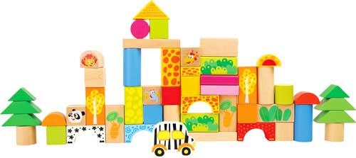 Construcción zoo madera 50 piezas detalle 3