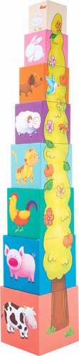 Torre de cubos Animales