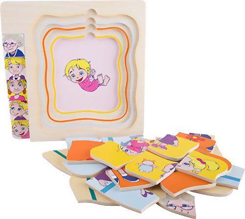 Puzzle de niña a abuela capas 28 piezas detalle 6