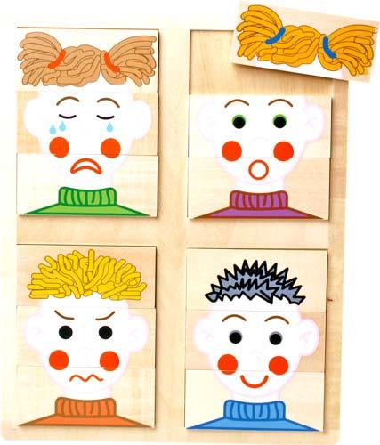 Puzzle de las caras 12 piezas