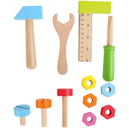 Cinturón de herramientas color madera detalle 1