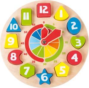 Reloj madera formas