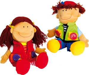 Muñecos abroches Nicoletta y David 2 ud.