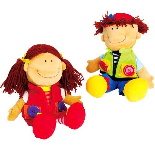 Nicoletta y David muñecos de abroches