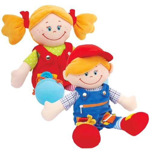 Clara y Máximo muñecos de abroches