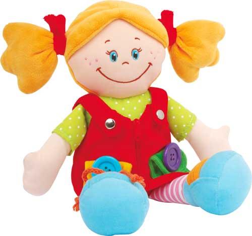 Clara y Máximo muñecos de abroches detalle chica