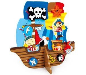 Barco pirata para enhebrar