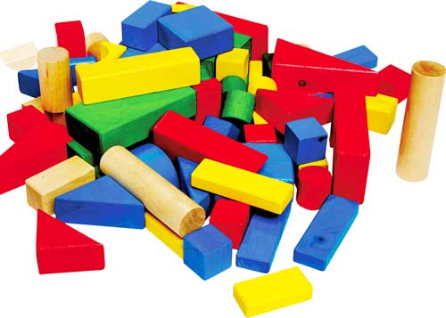 Construcción de madera grande 75 piezas