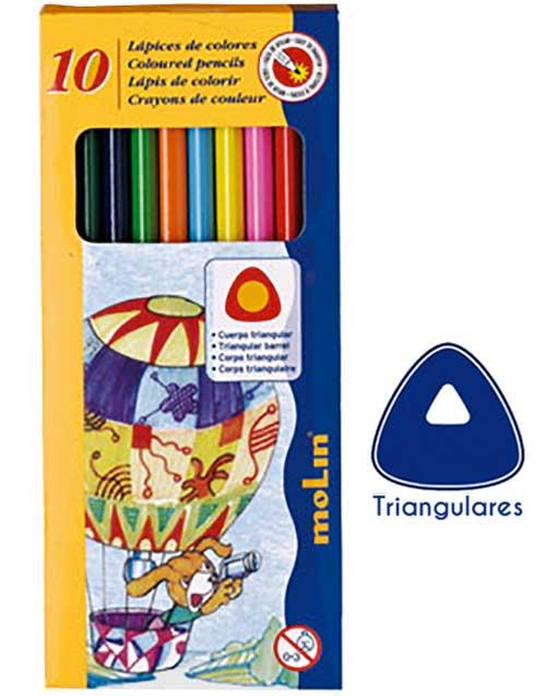 Lápices triangulares económicos 12 ud