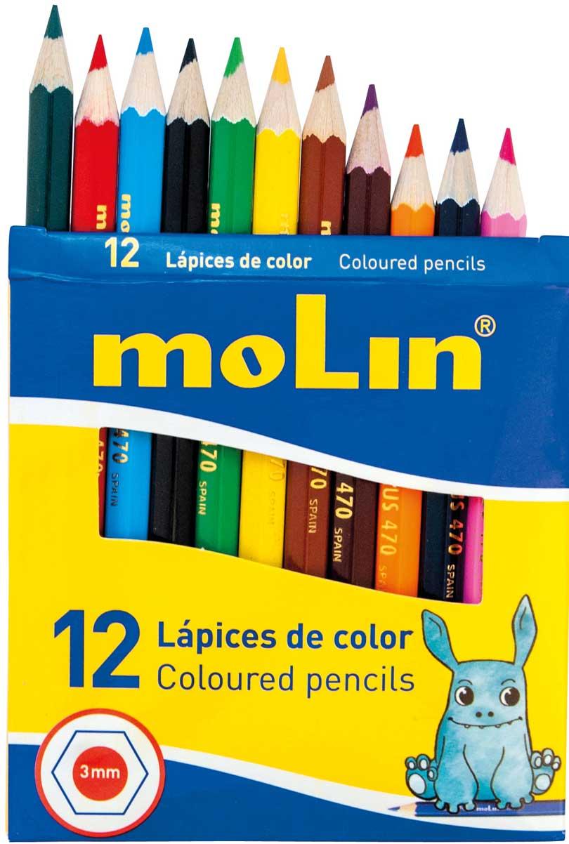 Lápices color cortos económicos 12 ud