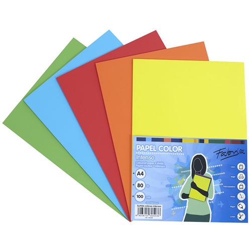 Papel A4 100 h 10 colores surtidos pastel y fuertes