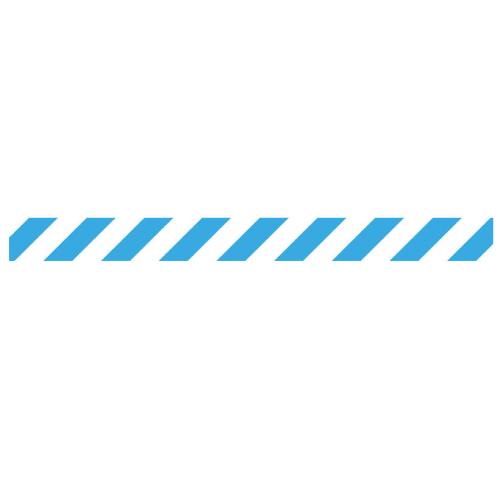 Linea adhesiva para suelo azul y blanca