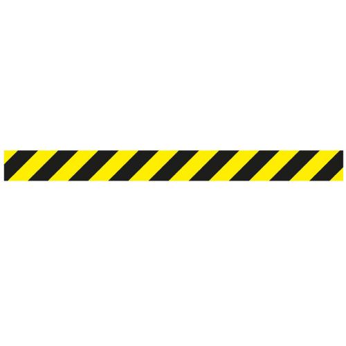 Linea adhesiva para suelo amarilla y negra