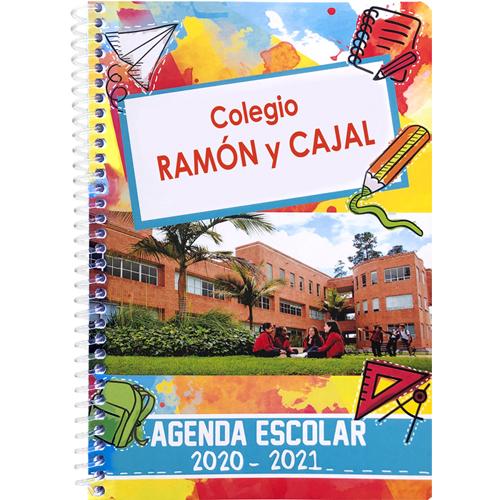 Agenda semana vista dos colores 128 páginas