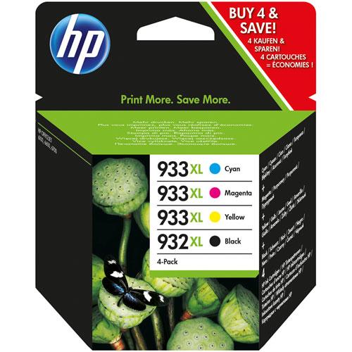 Cartucho HP Inkjet 932XL Negro + 933XL colores