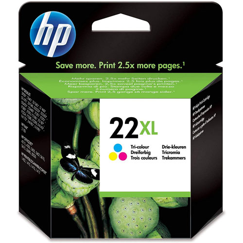 Cartucho HP Inkjet 22XL Tricolor