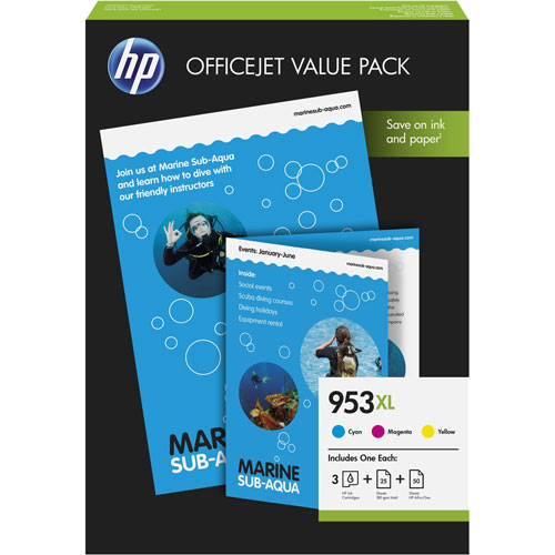 Cartucho HP Inkjet 953XL Pack 3 colores