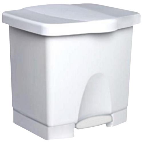 Papelera blanca de 40 litros con pedal