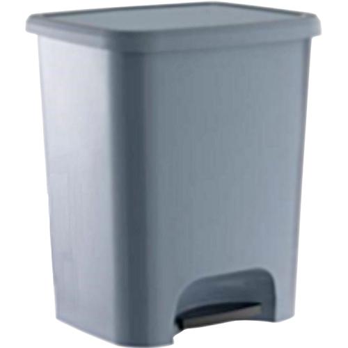 Papelera gris de 25 litros con pedal