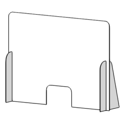 Mampara de protección horizontal de 120 x 90 cm detalle 2