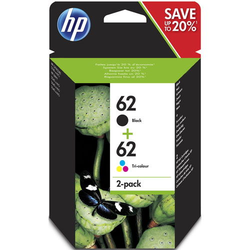 Cartucho HP Inkjet 62 Pack 4 Colores