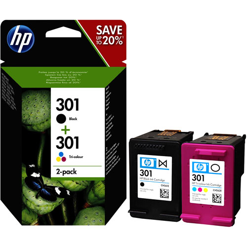 Cartucho HP Inkjet 301 Negro + Colores