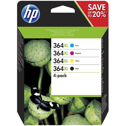 Cartucho hp inkjet 364xl pack 4 colores
