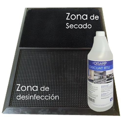 Alfombrilla antibacteriana desinfectante + Gel 1 litro