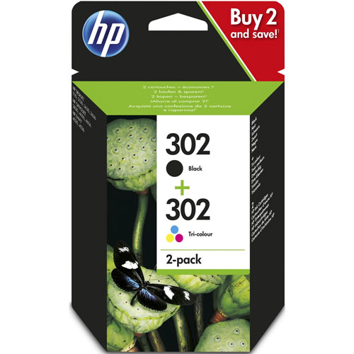 Cartucho HP Inkjet 302 Negro + Colores