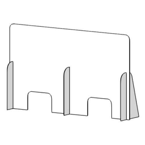 Mampara de protección horizontal de 150 x 90 cm