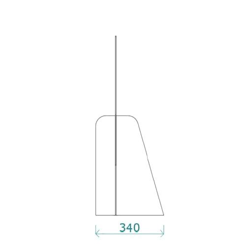 Mampara de protección horizontal de 150 x 90 cm detalle 2