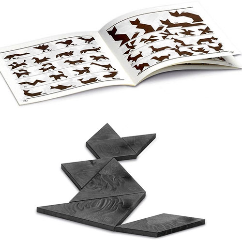 Tangram en caja de cartón detalle 1