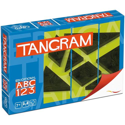 Tangram en caja de cartón