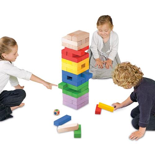 Torre de bloques gigante