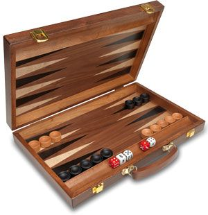 Backgammon maletín marquetería