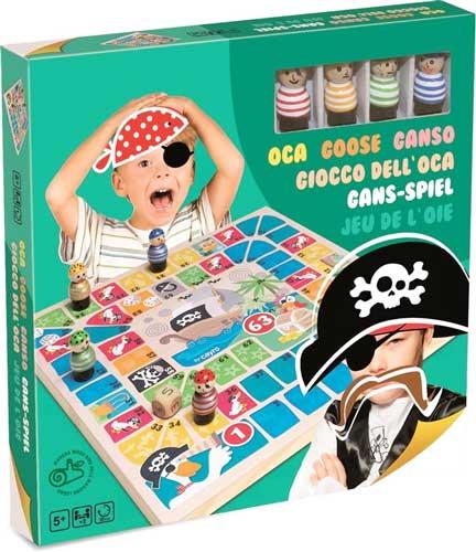 Oca piratas madera detalle de la caja