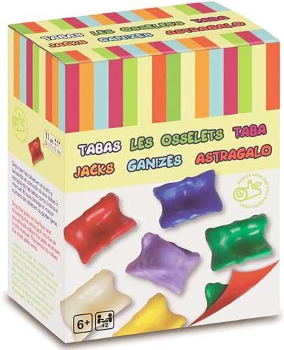 Tabas 11 piezas en caja detalle de la caja