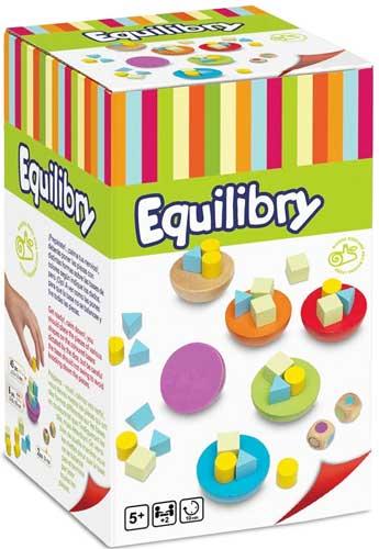 Equilibrity juego de equilibrio detalle de la caja