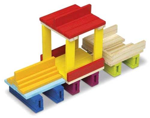 ConstruPack 70 piezas de madera detalle