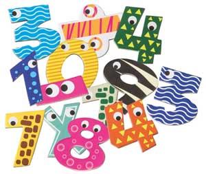 Números magnéticos 60 piezas