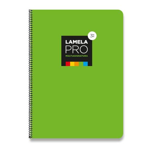 Cuaderno espiral Lamela PRO 100 h 3 mm Verde