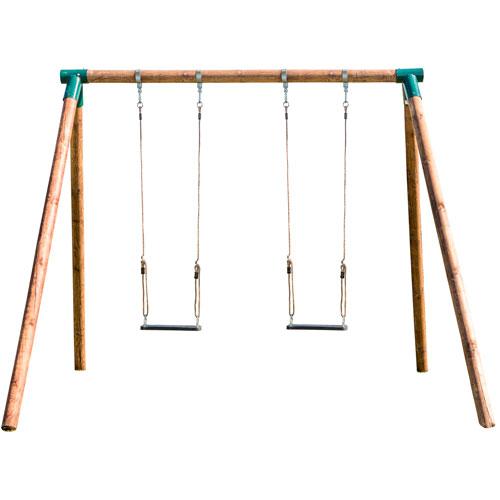 Columpio 2 plazas Fox para adultos madera