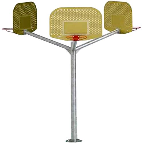 Canasta Baloncesto triple brazo vuelo 1,2m