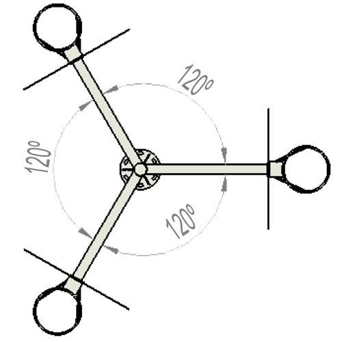 Canasta Baloncesto triple brazo vuelo 1,2m detalle 3