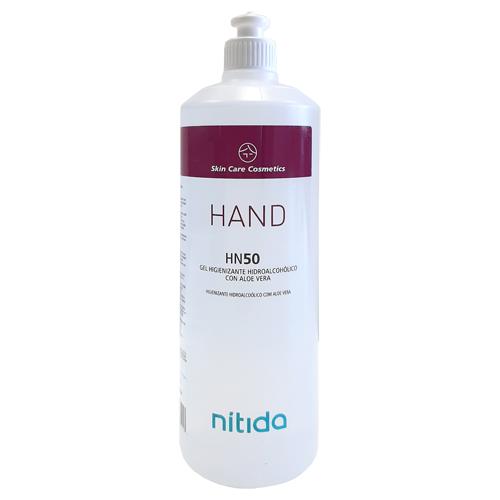 Gel hidroalcohólico botella con dosificador 1 litro detalle 1