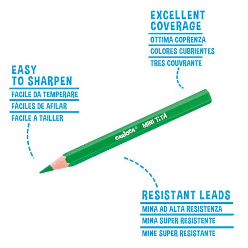 Pack de 6 lápices mini Tita detalle 2