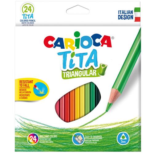 Pack de 24 lápices triangulares