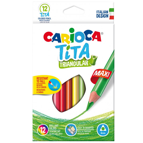 Caja 12 lápices triangulares maxi tita
