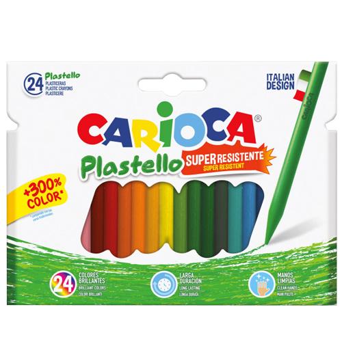 Caja 24 plasticeras plastello resistentes