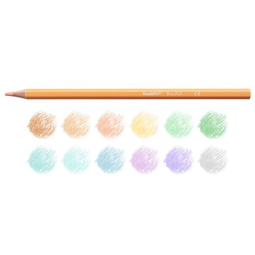 Pack de 12 lapiceros color pastel detalle 1